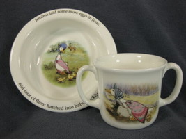 Royal Doulton Childs 2 Handled Cup & Bowl Beatrix Potter Jemima Puddleduck - $21.95