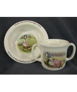 Royal Doulton Childs 2 Handled Cup & Bowl Beatrix Potter Jemima Puddleduck - $21.95