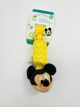 """6"""" Disney Baby Mickey Mouse On the Go Chime Rattle Plush Stuffed Baby Toy B350 - $9.99"""