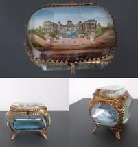 FRENCH BEVELED GLASS JEWERLY DRESSER BOX Napoléon French Empire 1900 rokoko - $89.10