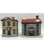Americana Porcelain Collectible Bank & Law Office Holiday Christmas Figu... - $24.09