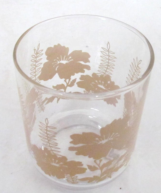 1970's Vintage (4) Libbey Poppy Flower Design Collectible Juice Glasses 6 oz