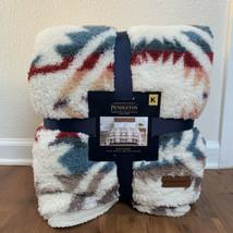 New Pendleton Sherpa King Blanket White Sands Multi FREE SHIPPING cozy S... - $127.71