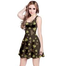 New Honey Bee Print Women's Elastic Stretchy Swing Sleeveless Dress Size XS-5XL - $27.99+