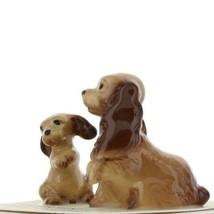 Hagen Renaker Miniature Dog Cocker Spaniel Mama and Pup Ceramic Figurine Set image 2