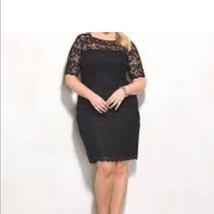 NWT DressBarn black lace sheath dress Women's Size 20W Retail $150 - $44.55