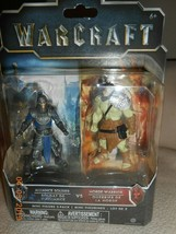 WARCRAFT 2 pack mini figures Alliance Soldier vs. Horde Warrior - $7.43