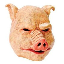 SAW PIG HORROR MASK, HALLOWEEN/MOVIES FANCY DRESS RUBBER HORROR  MASK - $16.27 CAD