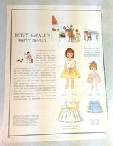 Betsy McCall Paper Doll, Uncut with Clothes, Betsy McCall's Party Month ... - $5.94