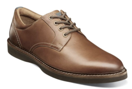 Nunn Bush Ridgetop Plain Toe Oxford Shoes Tan Leather Casual  84823-240 - $84.60