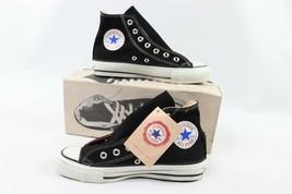 Vintage 90s Converse All Star Hi 5.5 W 7.5 Chuck Taylor Schuhe Schwarz USA - $206.25