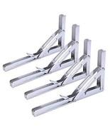 Amarine-made 4Pcs Heavy Duty Polished Stainless Steel Folding Shelf Benc... - $31.18