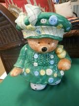 Great CIC Ceramic LADY TEDDY BEAR  On Skates COOKIE JAR - $22.36