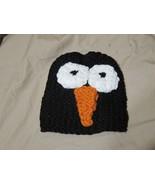 Handmade Knitted Black Penguin Infant Winter Hat Cap CUTE - $9.90