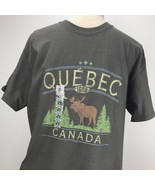 Cool as a Moose Quebec Canada Distressed Green T-Shirt Size Medium - $19.79