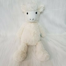 "15"" Manhattan Toys Lou Llama Alpaca Adorables Cream White Plush Stuffed ... - $14.99"