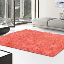 De Luxe Coral Retro Hand-Tufted Soft Shag Area Rug & Runners Multiple Sizes - $57.95+