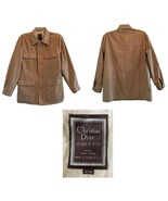 Vintage Christian Dior Monsieur Sport Camel Cargo 3/4 Coat 42R - $62.00