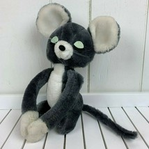 Dakin Vintage 1976 Hugging Mice Boy Mouse Dark Gray Stuffed Animal Plush... - $24.70
