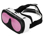 "3D VR Box Video Glasses for 4.0~6.0"" Smartphones - White + Pink"