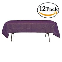 Exquisite 12-Pack Premium Plastic Tablecloth 54in. x 108in. Rectangle Ta... - $27.23