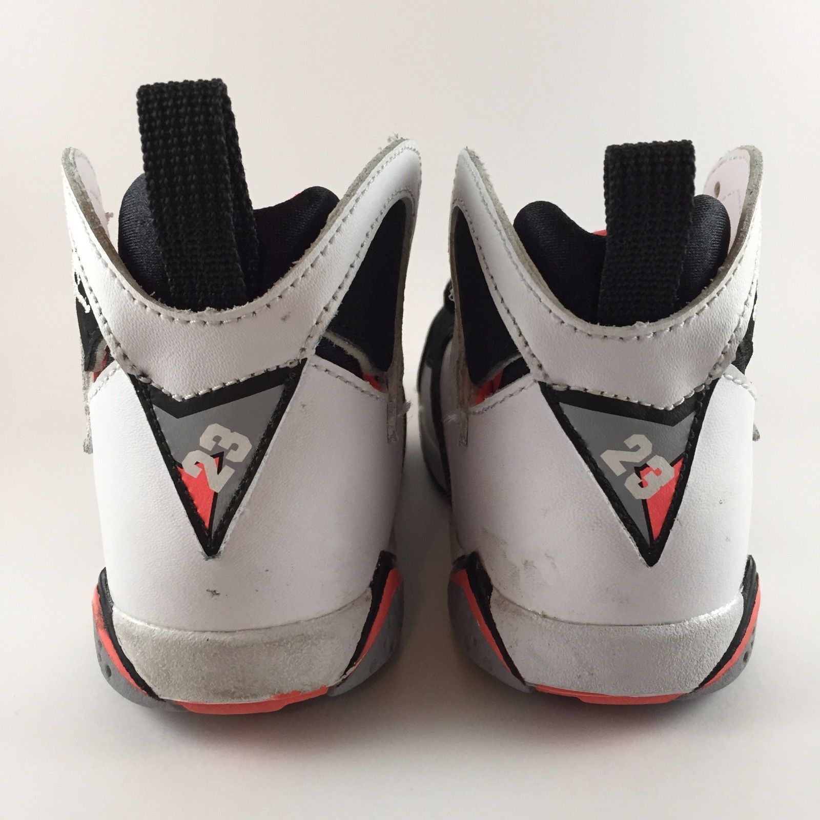 142019ad3cf5cf ... Nike Air Jordan Retro VII 7 Hot Lava White Black Orange Size 6C  705418-106 ...