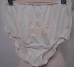 Vintage VAN RAALTE White Double Mushroom Nylon Gusset Lace Inset Panties 5 - $179.99
