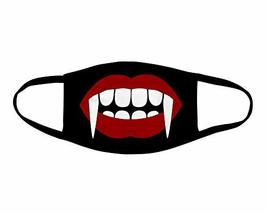 Vampire Fangs Face Mask Washable Face Covering - $13.37