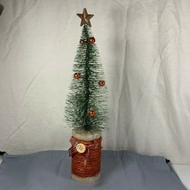 "Bottle Brush Christmas Tree on Spool of Thread 10 1/2"" tall Heartland Ho... - $14.84"