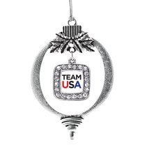 Inspired Silver White Banner Team USA Classic Holiday Christmas Tree Ornament - $14.69