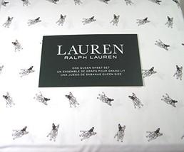 Lauren 4 Piece Queen Size Sheet Set Boston Terrier Dogs 100% Cotton - $156.72