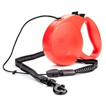 Retractable Dog Leash, Red Small Sturdy Dog Leash 10ft, With Safety Ribbon - $19.99