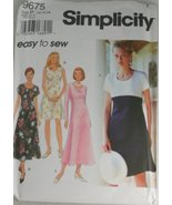 Simplicity 9675 Sewing Pattern Misses' Dress, Sizes 12-14-16 - $12.82