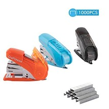 Craftinova Mini Stapler, 3pack, Including 1000 Staples, Built-in Stage Remover a image 1