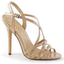 """Sexy AMU13/ND 5"""" Heel Ankle Strap Strappy Tan Sandals Women's Shoes Large Sizes - $44.95"""
