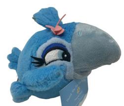"Angry Birds Rio Plush Blue Bird JEWEL 2011  6"" Stuffed Animal Toy Pink Flower - $10.99"