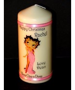 Betty Boop  in the pink Personalised  Christmas candle  gift - $19.79