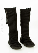 Ugg Classic Cardy Black Knit Boots Size 7 - $117.81