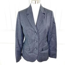 Vintage Benetton Made in Italy Gray Wool Single Breast Blazer Size 40 / ... - $24.74