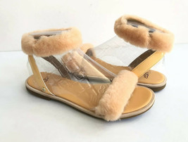 UGG FLUFF SPRINGS SUN KISSED SHEARLING STRAP SANDALS  US 8.5 / EU 39.5 /... - $74.79