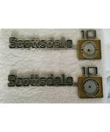 "Chevrolet Truck  "" SCOTTSDALE 10 "" Emblems Pair ORIGINAL VINTAGE - $75.00"