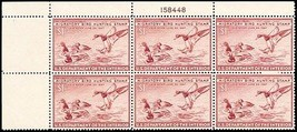 RW13, XF NH $1 Duck Plate Block of Six Stamps Cat $310.00 - Stuart Katz - $190.00