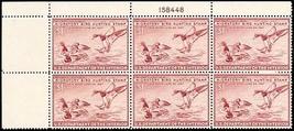 RW13, XF NH $1 Duck Plate Block of Six Stamps Cat $310.00 - Stuart Katz - $190.00