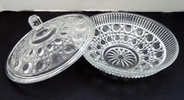 Indiana Glass Windsor Royal Brighton Clear Candy Dish with Lid Vintage - $14.84