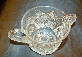 Glass Candy Dishes AB 366 Pair of Vintage Cut Glass image 4