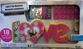New LOVE  Forever Light Up Marquee Craft Kit * NEW * DIY Decorate It You... - $14.50