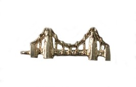 Vintage Sterling Silver Charm For Bracelet 3D Brooklyn Bridge - $21.37