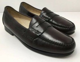 Cole Haan Penny Loafers Mens US 10 Cordovan Burgundy Leather Slip On 3504 - $34.60