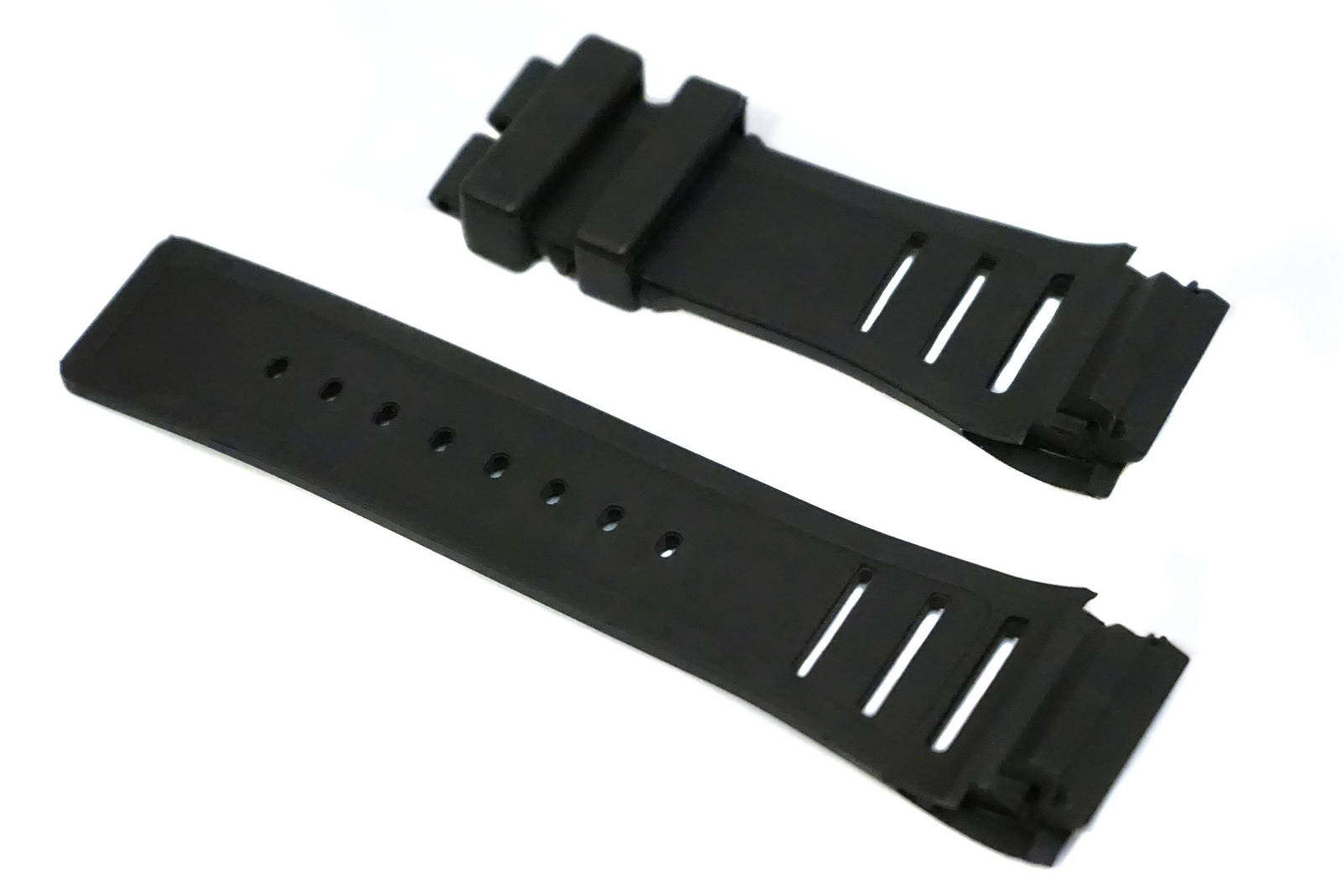 High Quality 26mm Black Rubber Strap Band Fit Richard Mille RM Models