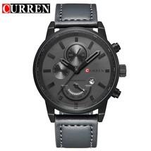 Men's Watch CURREN Hot Sale Analog Sports Wristwatch Display Date Men's Watch Le - $46.44
